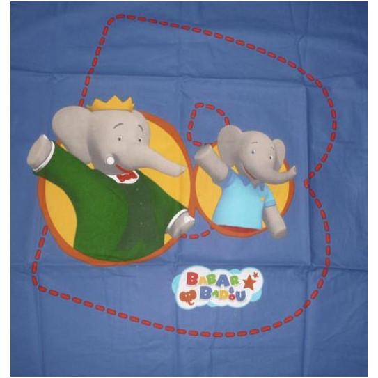 Pillowcase BABAR & BADOU
