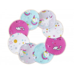 8 Organic Washable Cleansing Discs UNICORNS