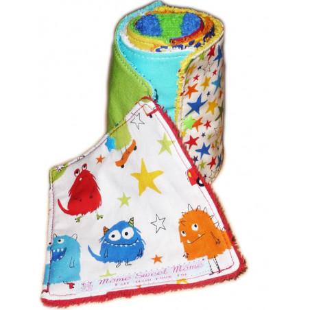 Papier toilette lavable MONSTRES RIGOLOS (enfants)