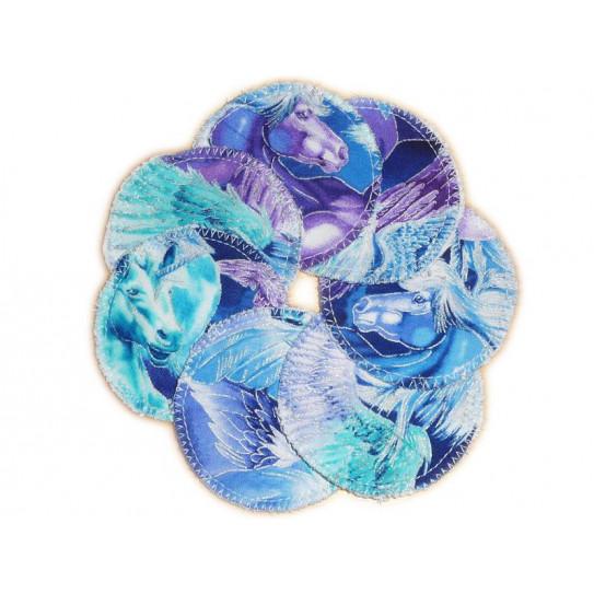 7 Organic Washable Cleansing Discs UNICORNS