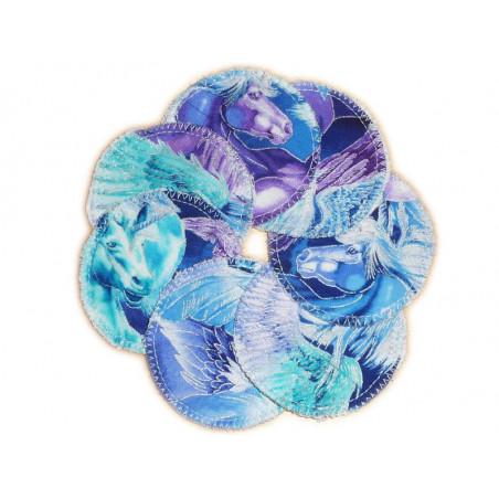 7 discos de limpieza orgánicos lavables UNICORNIOS