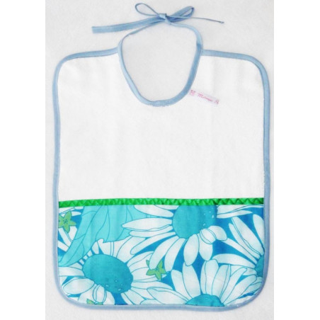 Sponge bib BLUE FLOWER